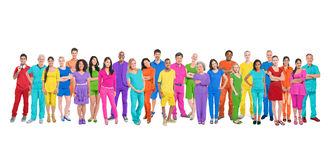 Large Group of Diverse Colorful People Royalty Free Stock Photo
