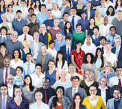 Large Group of Diverse Multiethnic People Royalty Free Stock Images