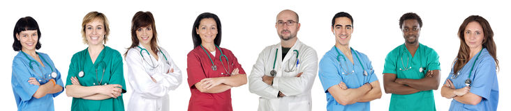 Large group of doctors isolated Stock Photo