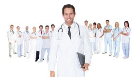 Large group of doctors and nurses Royalty Free Stock Image