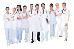 Large group of doctors and nurses Stock Image