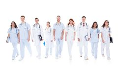 Large group of doctors and nurses in uniform Stock Photography
