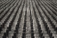 Large group of empty bottles Stock Photography