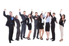 Large group of excited business people Stock Image