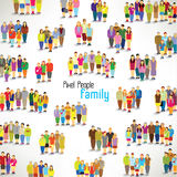 A large group of families gather  design Stock Photo