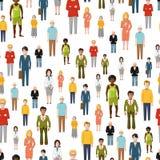 Large group of flat cartoon people. vector Stock Photos