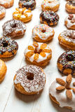 Large group of glazed donuts Stock Photos