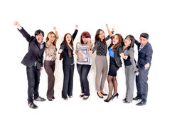 Large group of happy business people. Success. Stock Photo