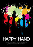 Large group of happy hands design with copy space. Royalty Free Stock Photo