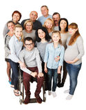 Large Group of Happy People smiling and embracing. Royalty Free Stock Images
