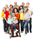 Large Group of Happy People smiling and embracing. Royalty Free Stock Photos
