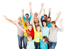 Large Group of Happy People standing together. Stock Images
