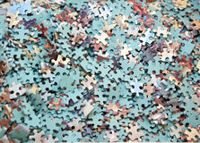 Large group of jigsaw pieces Stock Photos