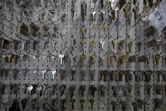 Large group of keys on display in store Royalty Free Stock Image