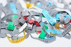 Large group of lock clasps Stock Image