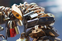 A large group of locks Royalty Free Stock Photography