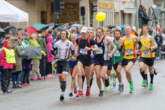 A large group of male runner Stock Photo