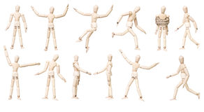 Large group of Mannequin Dolls with different expression stock photography
