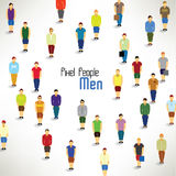 A large group of men gather  design Stock Photography