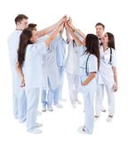Large group of motivated doctors and nurses Royalty Free Stock Photography
