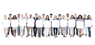 Large Group of Multi-Ethnic BusinessPeople Stock Images