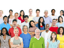 Large Group of Multi-Ethnic People Royalty Free Stock Photo
