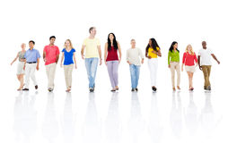 Large group multi-ethnic people Concept Royalty Free Stock Images