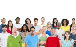 Large group of multi - ethnic people Concept Stock Photos