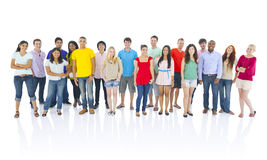 Large Group of Multi-Ethnic Young People royalty free stock photography