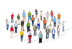 Large Group of Multiethnic Colorful People Stock Photos