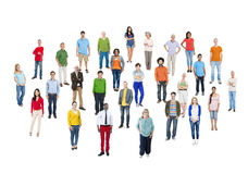 Large Group of Multiethnic Colorful People Royalty Free Stock Photography