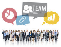Large Group of Multiethnic Diverse Business People Stock Photos