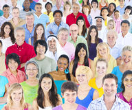 Large Group of Multiethnic People royalty free stock photo