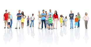 Large Group of Multiethnic People Smiling Royalty Free Stock Photo