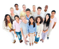 Large Group of Multiethnic People Smiling Stock Images