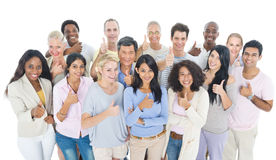 Large Group of Multiethnic People Smiling royalty free stock photos