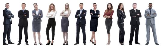Free Large Group Of Business People. Isolated Over White. Stock Image - 179075121