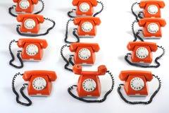 Free Large Group Of Orange Telephones Royalty Free Stock Photography - 12906587