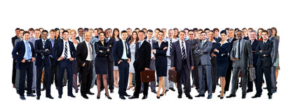 Large Group Of People Full Length Stock Photo