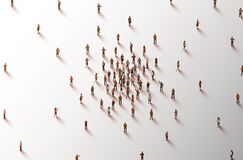 Free Large Group Of People On White Background. People Crowd Concept. Stock Image - 212070351