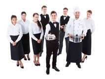 Free Large Group Of Waiters And Waitresses Royalty Free Stock Images - 40192699