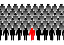 Large group of people. Illustration Royalty Free Stock Photo