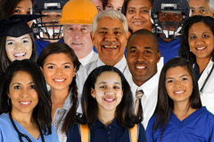 Large Group of People. People of all different races and professions Stock Image