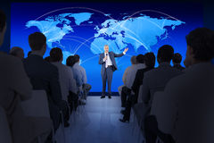 Large Group of People in Business Presentation Royalty Free Stock Photo