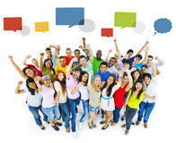 Large Group of People Celebrating.  Royalty Free Stock Images