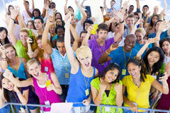 Large Group of People Celebrating Stock Photos