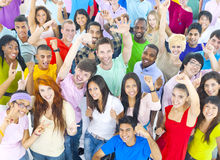Large Group People Celebrating Enjoying Concept Royalty Free Stock Images
