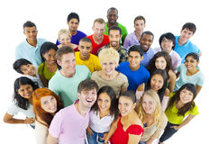 Large Group People  Cheerful Celebrating Concept Royalty Free Stock Photo