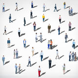 Large Group of People Communication Diversity Community Concept Royalty Free Stock Photos