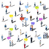 Large Group of People Communication Diversity Community Concept Stock Images